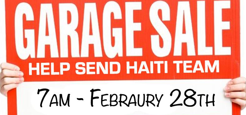 Garage Sale for Haiti Trip