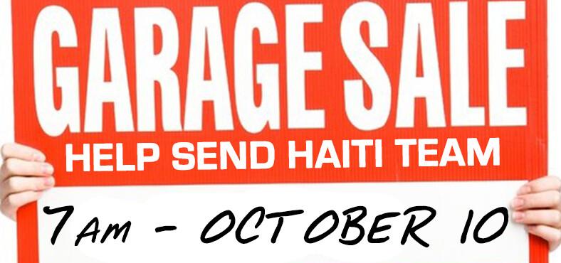 Garage Sale for Haiti 2015